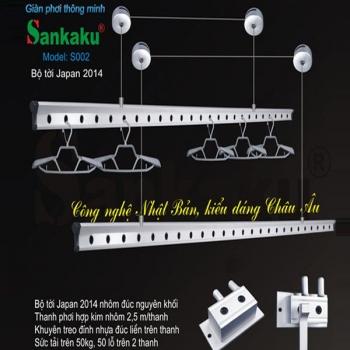 Giàn phơi thông minh Sankaku Model S02